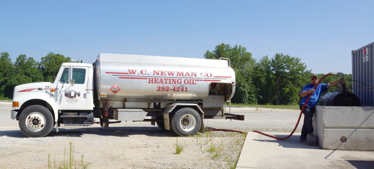 Heating oil truck at W.C. Newman, Virginia